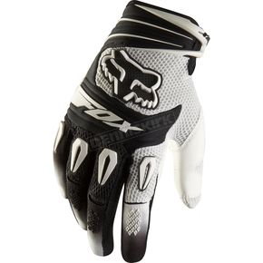 Fox White Pawtector Gloves - 01016-008-L