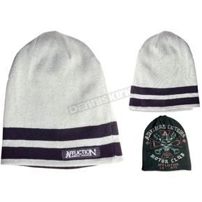 Affliction Reversible Stripped Beanie - A-5056-OS