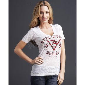 Affliction Womens Motors Event T-shirt - AW6167-L