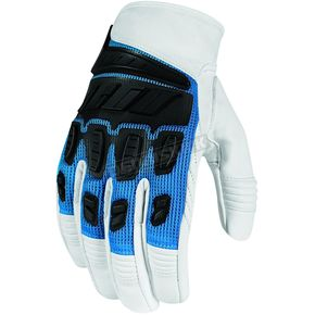 Icon Blue Hooligan Gloves  - 3301-1907