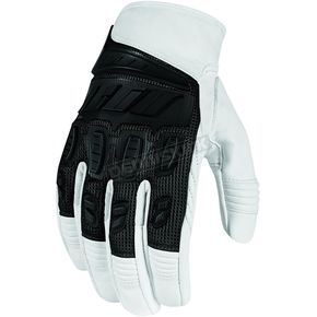 Icon White Hooligan Gloves  - 3301-1919