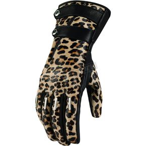 Icon Womens Long Leopard Catwalk Gloves  - 3302-0317