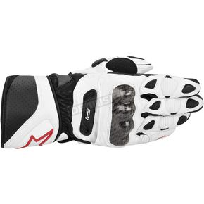 Alpinestars White SP-1 Leather Glove - 3558113-20-L