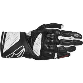 Alpinestars Black/White SP-8 Leather Glove - 3558313-12-3XL