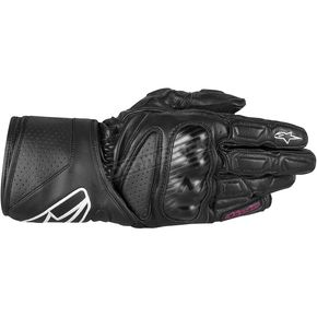 Alpinestars Womens Black Stells SP-8 LEather Gloves - 3518313-10-XL
