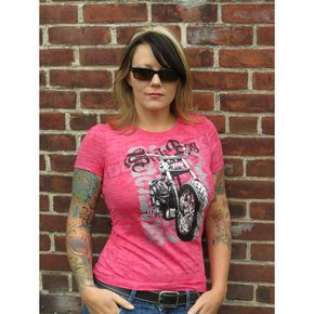 Sick Boy Motorcycles Womens Sick Boy Burnout T-Shirt - LPBOT-L