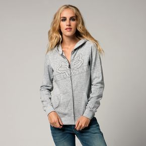 Fox Womens White Invert Zip Hoody - 04626-008