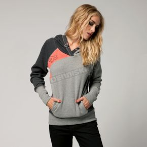 Fox Womens Heather Graphite Exhaust Hoody - 05553-185-L