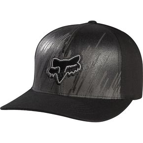 Fox Black Recover Flex-Fit Hat - 04996-001-L/XL