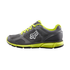Fox Graphite/Acid Green Podium Shoes - 04913-133-10