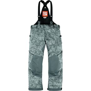Arctiva Bolt Gray Comp 8 Bibs - 3130-0838