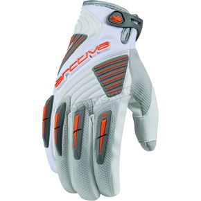 Arctiva White Comp 8 RR Short Cuff Shell Gloves - 3340-0823