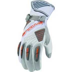 Arctiva White Comp 8 RR Long Cuff Shell Gloves - 3340-0838