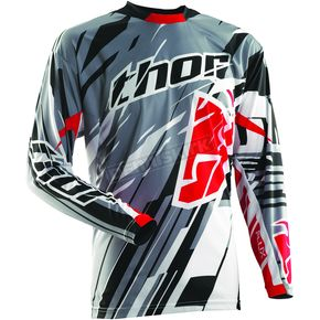 Thor Gray Flux Shred Jersey - 2910-2793