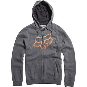 Fox Charcoal Heather Edger Zip Hoody - 06500-123-L