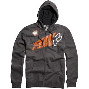 Fox Charcoal Heather Riptide Zip Hoody - 06586-123-L