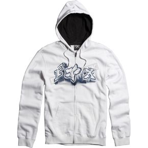Fox White Unruler Zip Hoody - 06587-008-L