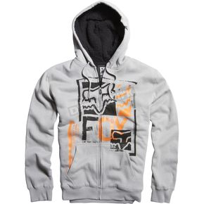 Fox Grey Evanite Sherpa Zip Hoody - 06595-006-L