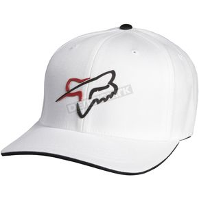 Fox White Abound Out Flex-Fit Hat - 06736-008-L/XL