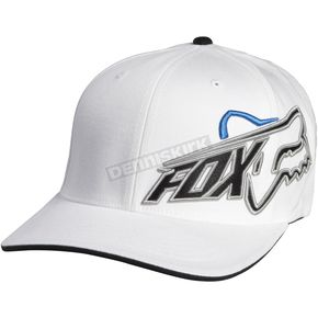 Fox White Constant Shift Flex-Fit Hat - 06740-008-L/XL