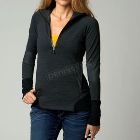 Fox Womens Black Divide Long Sleeve Pullover Shirt - 06818-001-L