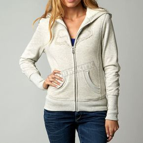 Fox Womens Heather Pearl Interface Sherpa Zip Hoody - 06826-380-L