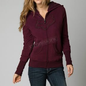 Fox Womens Bordeaux Interface Sherpa Zip Hoody - 06826-448-L