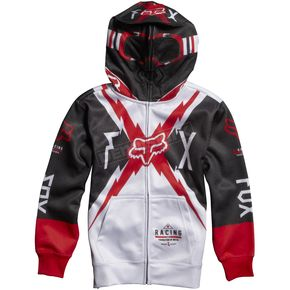 Fox Youth White Bolted Zip Hoody - 06976-008-L