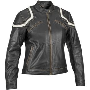River Road Womens Babe Vintage Leather Jacket - 09-3225