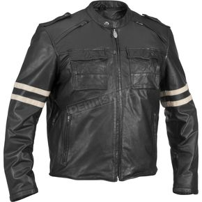 River Road Baron Retro Vintage Leather Jacket - 09-3212