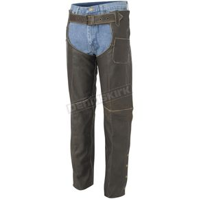 River Road Drifter Distressed Vintage Distressed Leather Chaps - 09-1787