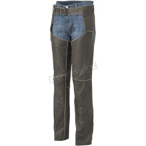 River Road Womens Drifter Distressed Vintage Leather Chaps - 09-1799