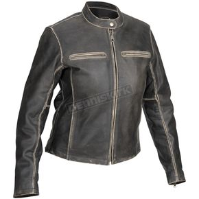 River Road Womens Drifter Distressed Vintage Leather Jacket - 09-1782