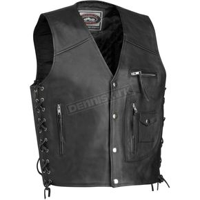River Road Four Pocket Leather Vest - 09-4265