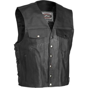 River Road Frontier Leather Vest - 09-1699