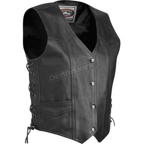 River Road Womens Plains Leather Vest - 09-7079