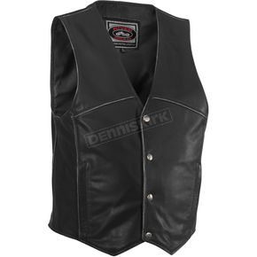 River Road Rambler Distressed Leather Vest - 09-3926