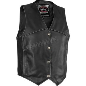 River Road Womens Rambler Distressed Leather Vest - 09-3931
