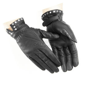 River Road Womens Tallahassee Studded Leather Gloves - 09-2142