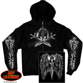 Hot Leathers Reaper Wings Zip Hoody - GMZ4208XXXL
