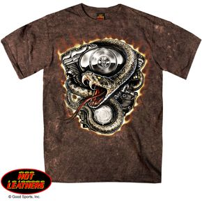 Hot Leathers Sand Brown Rattler T-Shirt - GMS1216XXXL