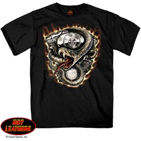 Hot Leathers Black Rattler T-Shirt - GMS1229XXXL
