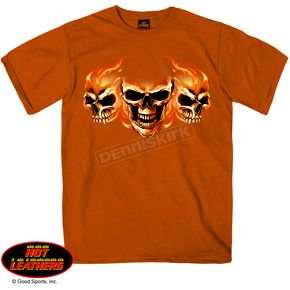 Hot Leathers Three Skulls T-Shirt - GMS1227XXXL