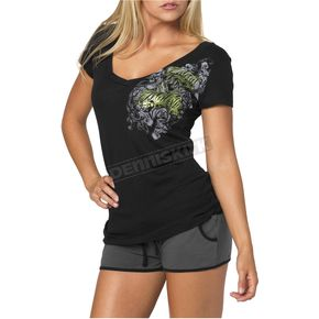 Metal Mulisha Royal Flush Womens Black T-Shirt - 35-0780