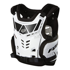 Fox White Kids Raptor Chest Deflector - 06354-008-OS