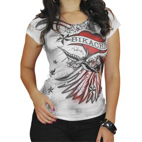 BikaChik Ladies Wings & Heart Tee - BC210W