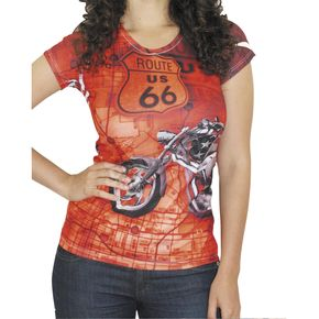 BikaChik Ladies Route 66 Tee - BC210R