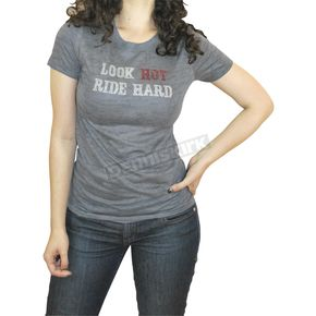 BikaChik Ladies Look Hot, Ride Hard T-Shirt - BC10035