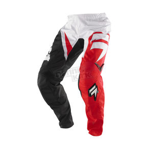 Shift Race Red/White Assault Pants - 07245-054-28
