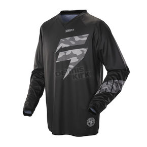 Shift Recon Veteran Black Camo Jersey - 07248-247-L